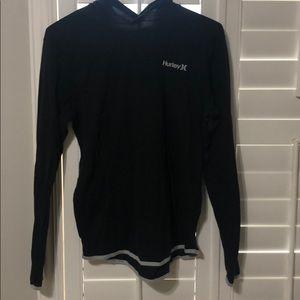 hurley oversized sweatshirt w a hoodie